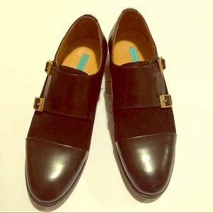 Shoes - NWT Leather & Suede Monk Loafers